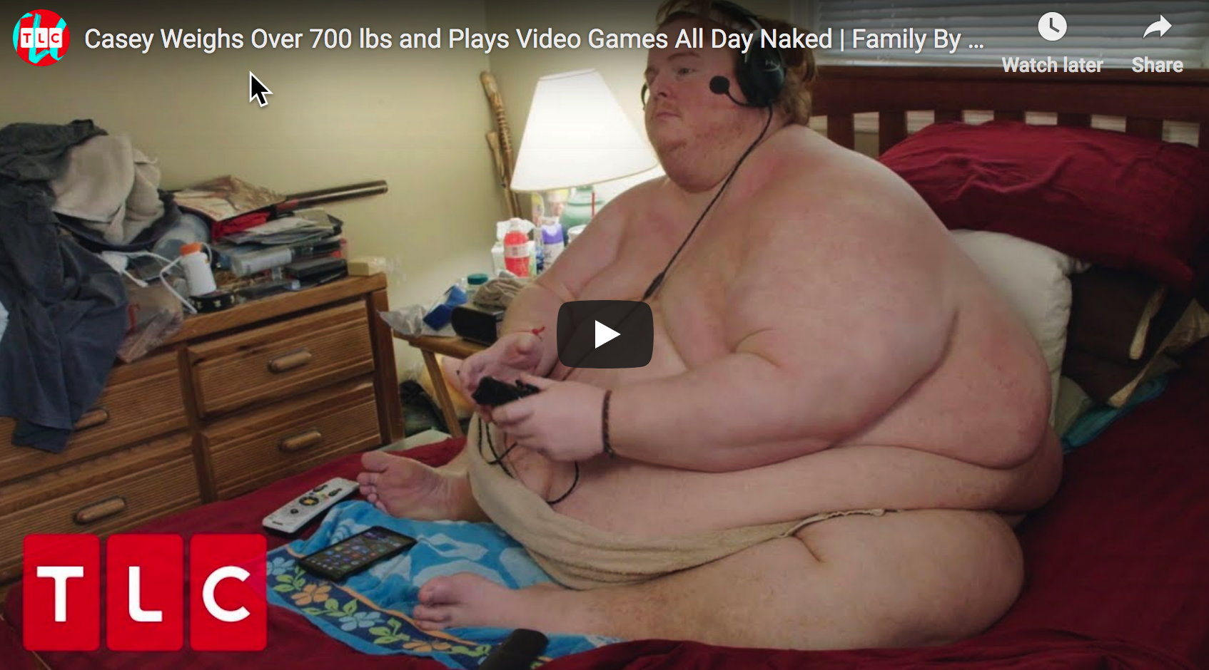 Photo of Metaphor For America: 700 lb. Man Plans To Eat And Play Video Games While Naked Until He Dies
