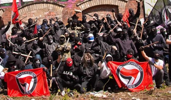 """Photo of Antifa Leader Arrested For """"Ethnic Intimidation"""" At Philadelphia Rally"""