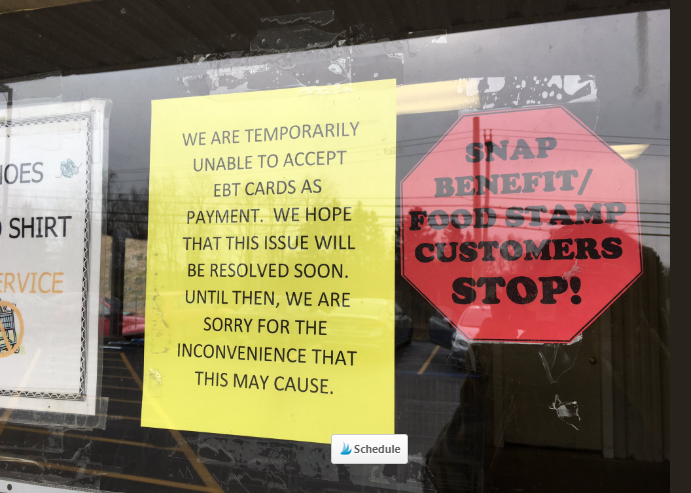 Photo of It's BEGINS: Grocery Store in Indiana Says They Can't Process Food Stamp Payments Due to Shutdown