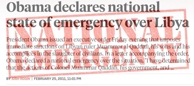 Photo of Remember When Obama Declared An Emergency To Save Libyan Citizens
