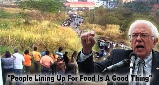 "Photo of ""People Lining Up For Food Is A Good Thing"" – There's A Real Chance That This COMMIE Could Become President Of The United States"