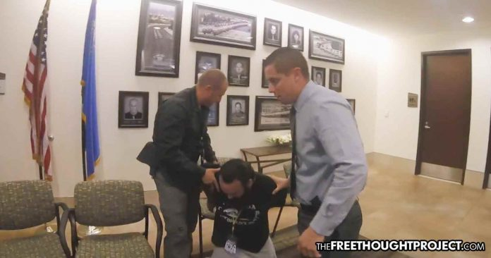 Photo of Las Vegas: Watch the 1st Amendment Die as Journalist Arrested at Press Conference for Not Being Mainstream