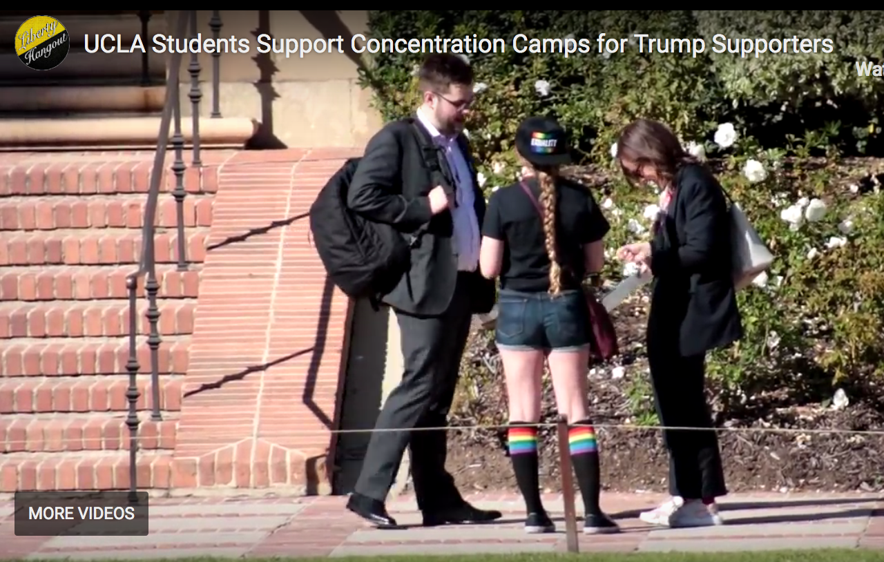 Photo of UCLA Students Sign Petition to Put Conservatives in Concentration Camps