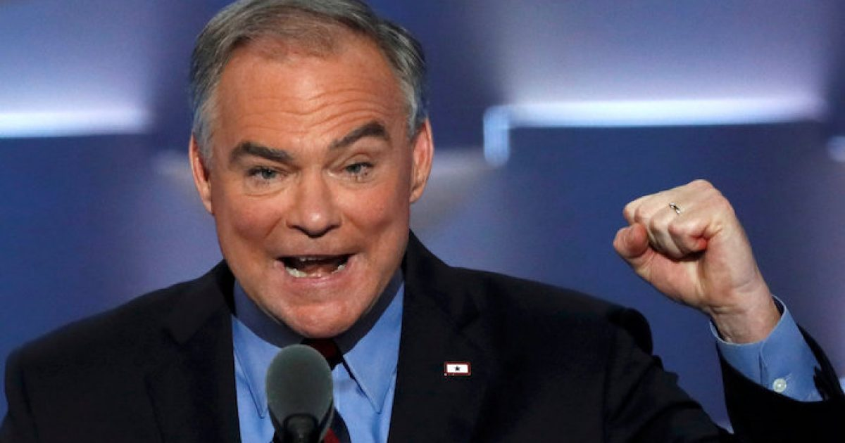 "Photo of Senator Tim Kaine Introduces Bill To Combat ""Undeniable Threat"" Of White Supremacy, Ignores Jihad"