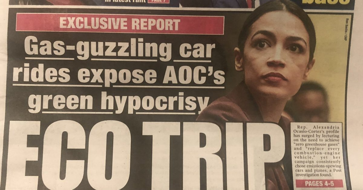 Photo of AOC's Massive Carbon Footprint Demonstrates That She Fails To Practice What She Preaches