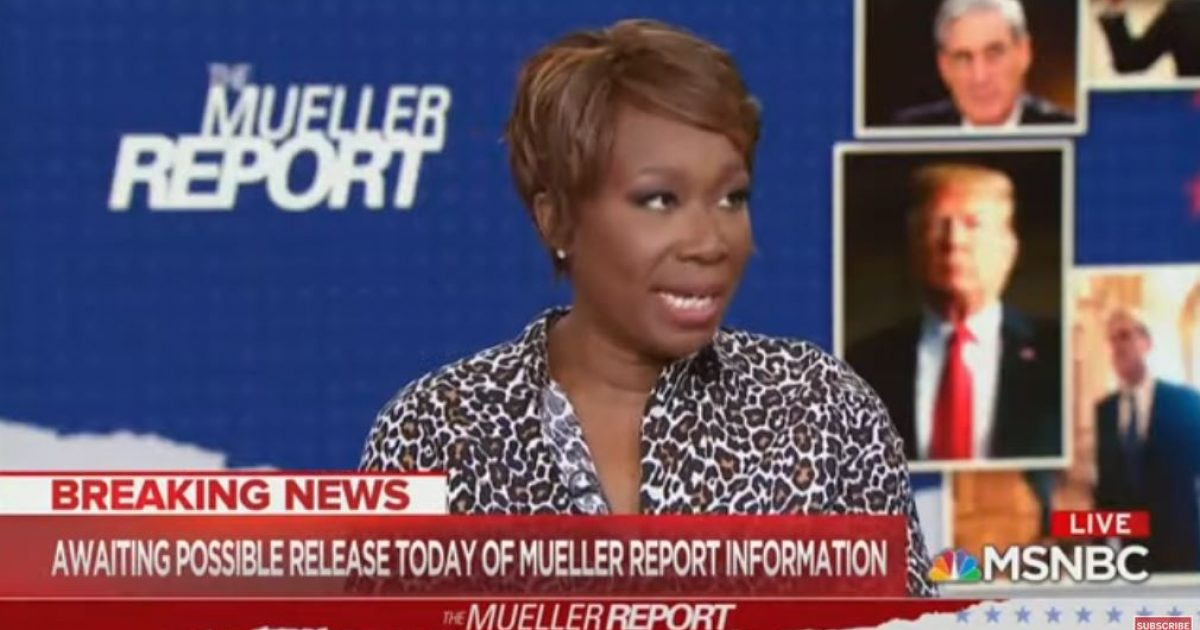 Photo of Watch: MSNBC's Joy Reid floats conspiracy theory that Mueller report 'feels like the seeds of a cover-up'