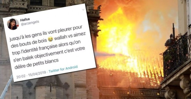"""Photo of French Student Leader: """"I Swear to Allah We Don't Give a Rat's Ass"""" About Notre Dame"""