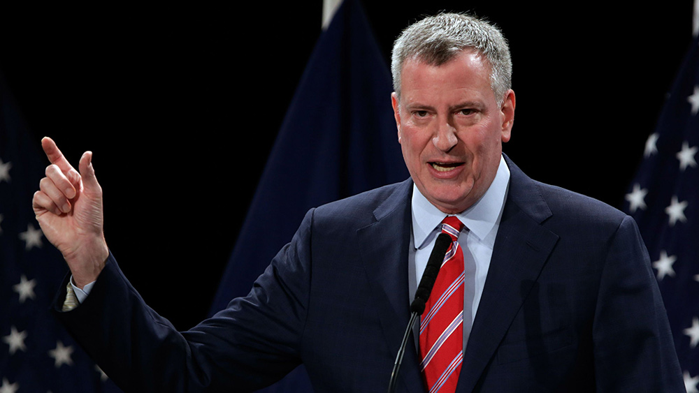 Photo of NYC Mayor De Blasio tells citizens: We own your bodies, and we can force you to be injected with anything we want