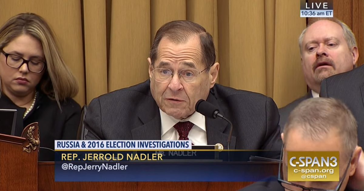 Photo of The Law Be Damned! Nadler subpoenas info on Mueller report that by law, can't be shared