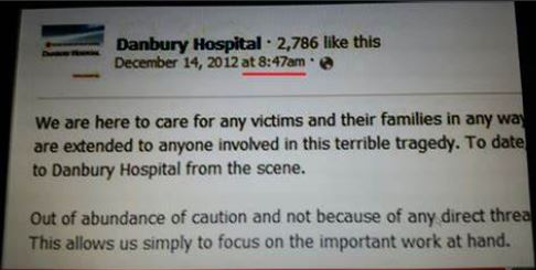 Sandy Hook: The curious case of Danbury Hospital's premature Facebook message, 48 mins. before police received 911 call