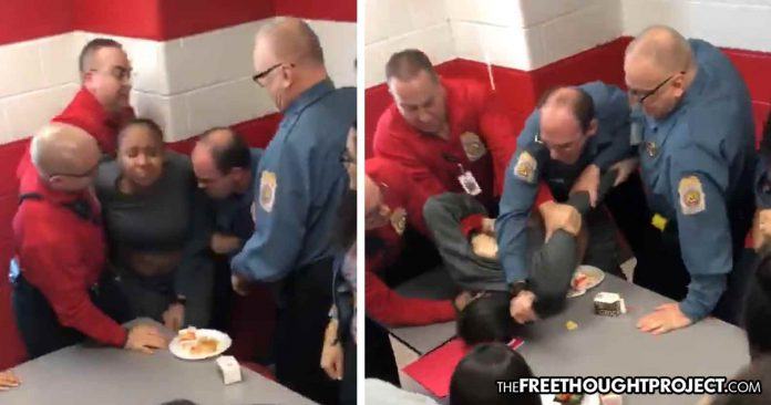 Photo of Cop Still Working at School Despite Video of Him Smashing School Girl's Head into a Table