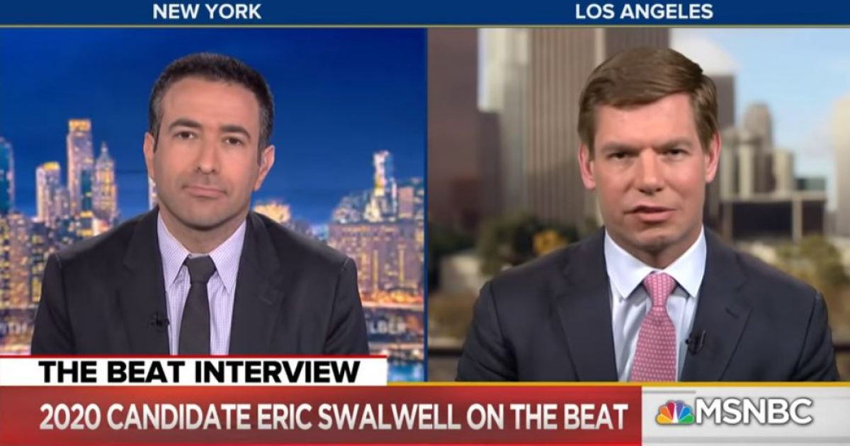 Photo of Watch: Eric Swalwell maintains Trump colluded with Russia despite evidence to the contrary
