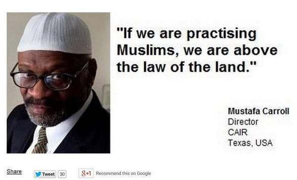 Photo of CAIR Director Herman Mustafa Carroll: Practicing Muslims Are Above The Law of the Land