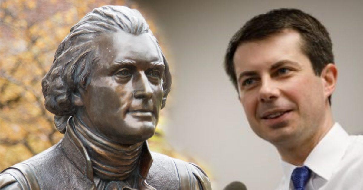"Photo of Pete Buttigieg: Remove Thomas Jefferson's Name Because ""It's The Right Thing To Do"""