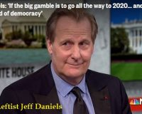 Hollyweirdo Jeff Daniels: It's the end of democracy if Trump is reelected
