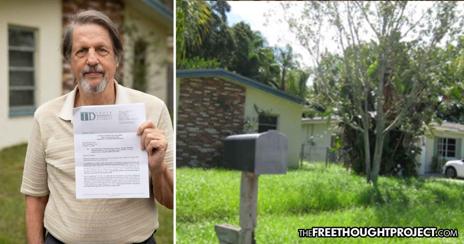 Photo of Gov't Fines Elderly Florida Man $30K, Trying to Steal His Home Because His Grass Was Too Tall