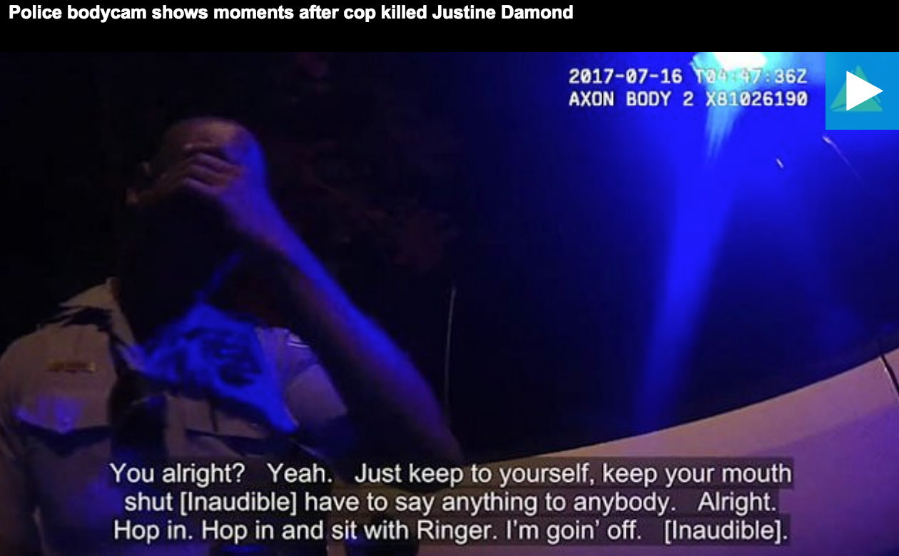 Photo of 'Keep your mouth shut' — SHOCK VIDEO of Fellow Cops Trying To Protect Mohamed Noor After He Murdered Justine Damond