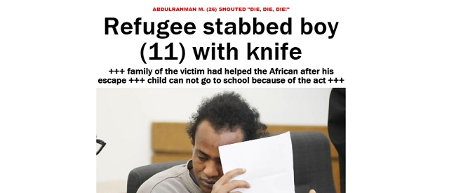 "Merkel's Germany: Migrant Repays Host Family by Repeatedly Stabbing Their 11 yo Son and Shouting ""Die, Die, Die!"""