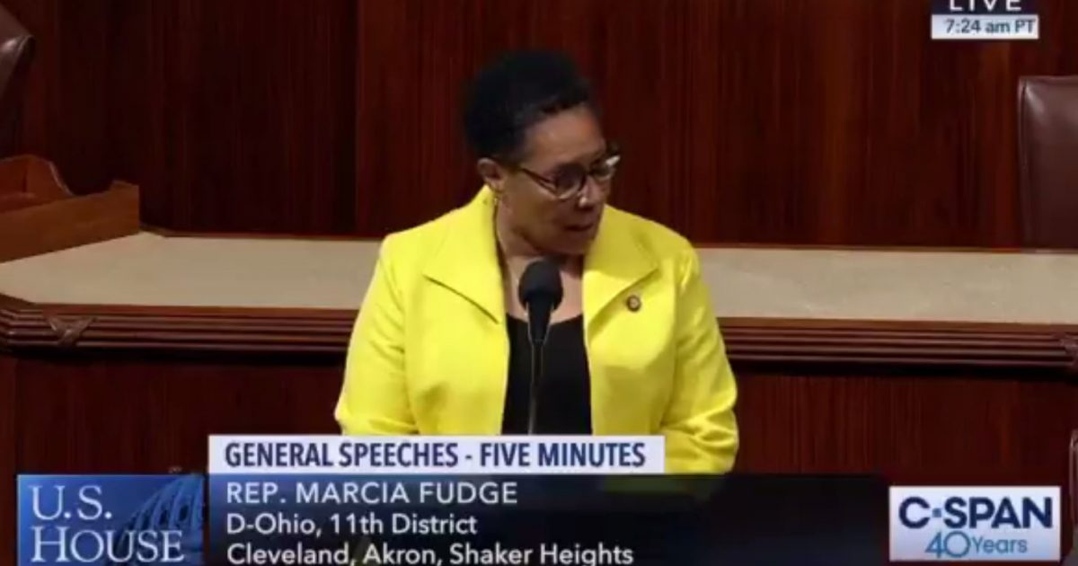 Photo of Video: Marcia Fudge on House floor: Trump supporters ignorant, dumb, immoral, unpatriotic racists