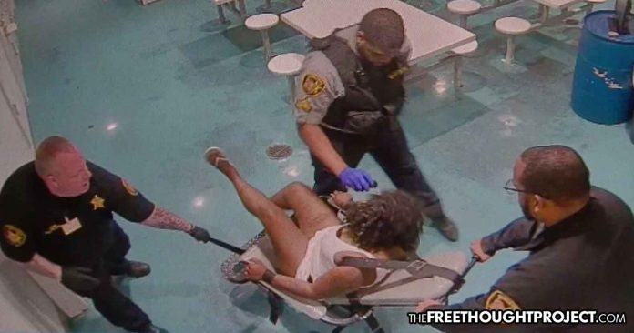 Photo of WATCH: Woman Strapped to Chair, Beaten & Pepper Sprayed Over Unpaid Traffic Ticket