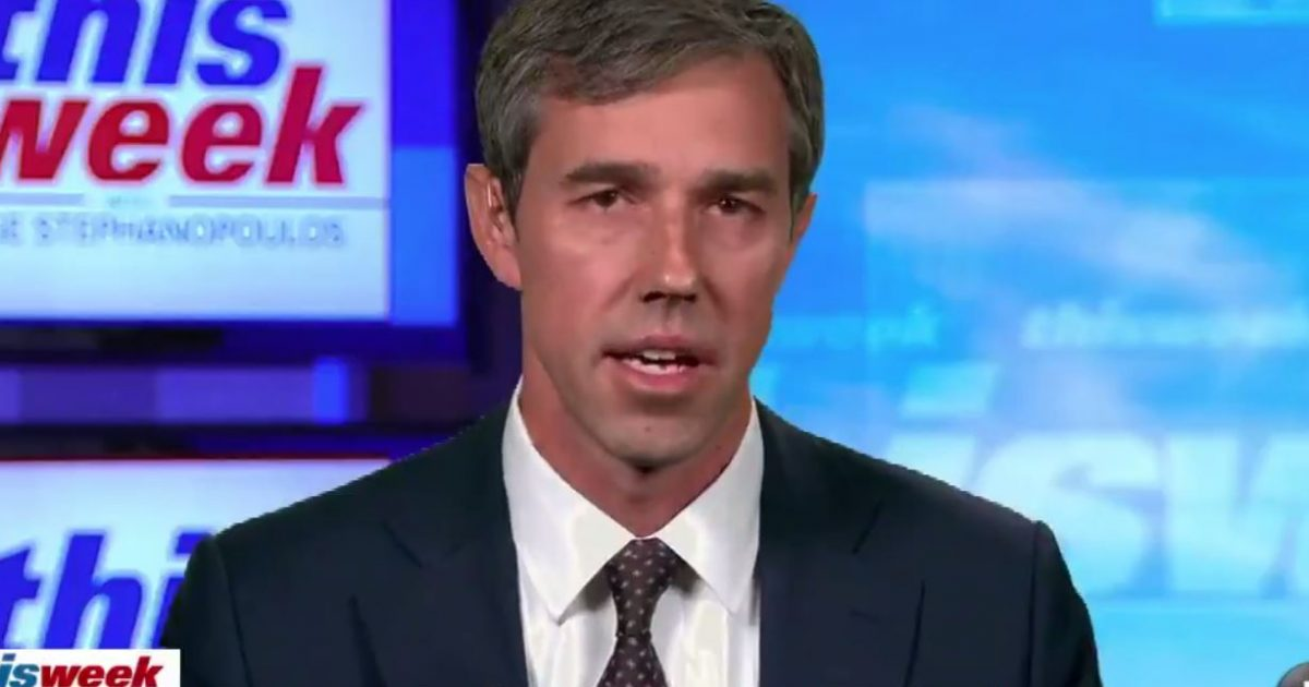 Photo of Beto O'Rourke promises to prosecute Trump if he wins in 2020