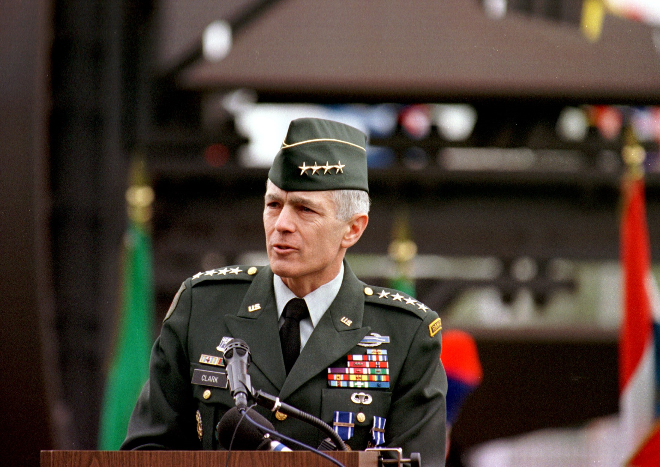 "Photo of Flashback — General Wesley Clark Claimed & Predicted: ""Planned Wars"", 7 Countries In 5 Years, Finishing Off Iran!"