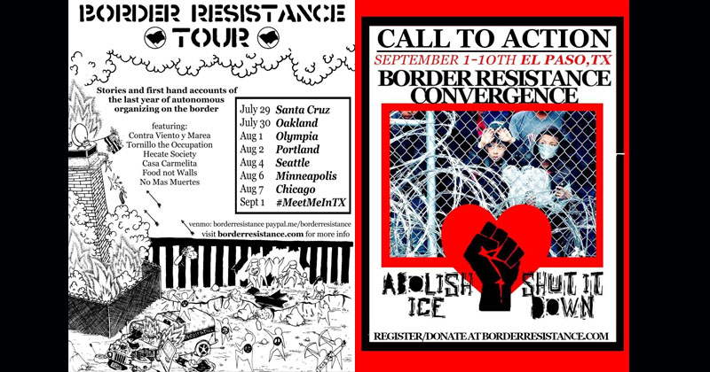 Photo of Antifa Terrorists Gear Up for 10-Day Siege on Southern Border, Flyers Depict Dead Federal Agents