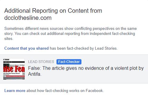 Photo of FAKEBOOK Declares Antifa Acid Attack Threat is Fake News