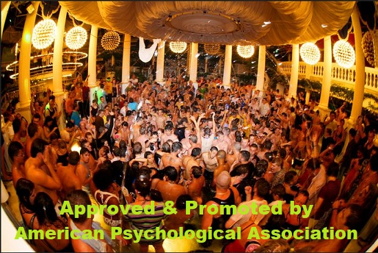 Photo of American Psychological Association to promote adultery, swinging & orgies