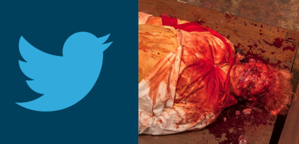 "Photo of Twitter Allows Graphic Images Of Trump Being Murdered On Platform – Bans Conservatives Because They Are ""Dangerous"""