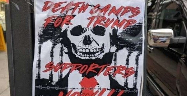 Photo of 'Death Camps For Trump Supporters' Fliers Posted in New York
