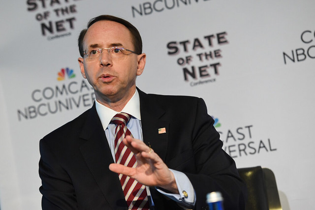 Photo of Fmr Deputy AG Rod Rosenstein Downplays Jeffrey Epstein Suicide