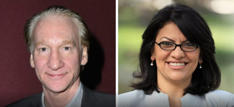 Liberal Catfight! Bill Maher calls BS on BDS Tlaib punches back.