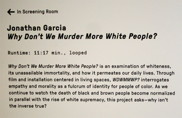 "Photo of Only in San Francisco — ""Why Don't We Murder More White People?"" — Film Funded by Taxpayers"