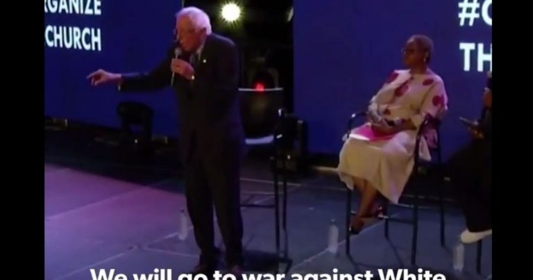 Watch: Bernie Sanders promises 'war' on 'white nationalism and racism' if elected