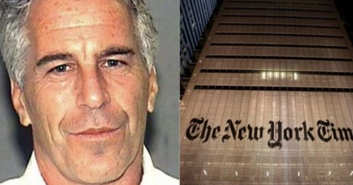 "Photo of NY Times Reporter Claims Last August Epstein Told Him He Had ""Damaging Information On Rich, Famous And Powerful People"""