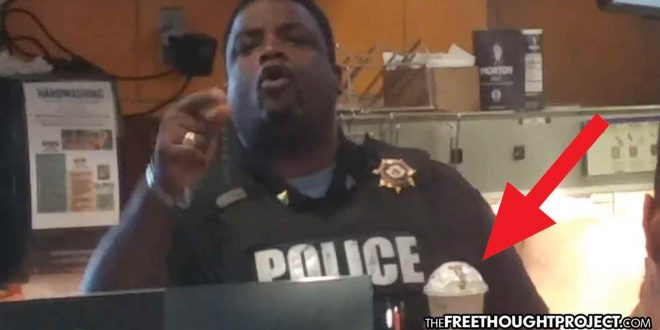 Photo of Cop Loses It, Assaults Man for Recording Him Steal a McDonald's Smoothie