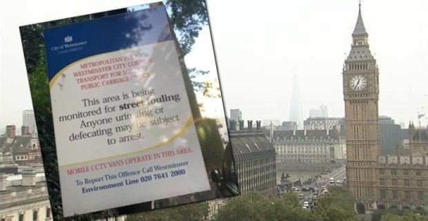 Photo of Signs Going Up in London Telling People Not to Sh*t in the Streets