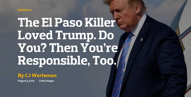 "Photo of Liberal Rag ""The Forward"": Love Trump? Then ""You're Responsible"" For Mass Shootings"