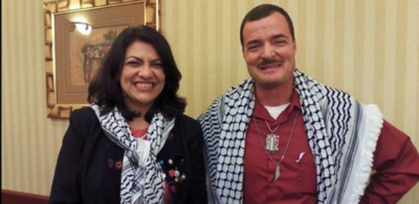 Photo of Rashida Tlaib Photographed With Another Terrorist-Supporting Fan