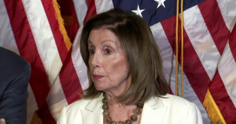 "Photo of Pelosi threatens ""hell to pay"" if Senate doesn't pass Universal Background Checks"
