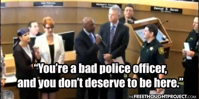 Photo of WATCH: City Commissioner Hijacks Cop's Award Ceremony to Call Him Out for Being Corrupt