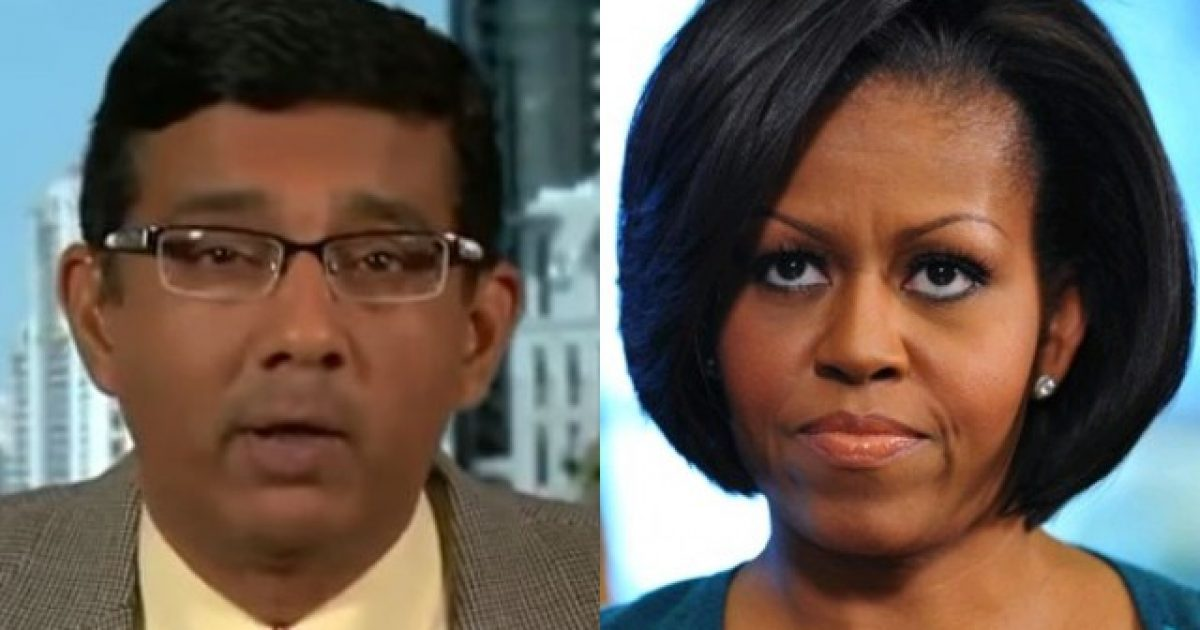 "Photo of TRUTH BOMB: Dinesh D'Souza Says Michelle Obama's College Thesis Was ""Illiterate And Incoherent"""