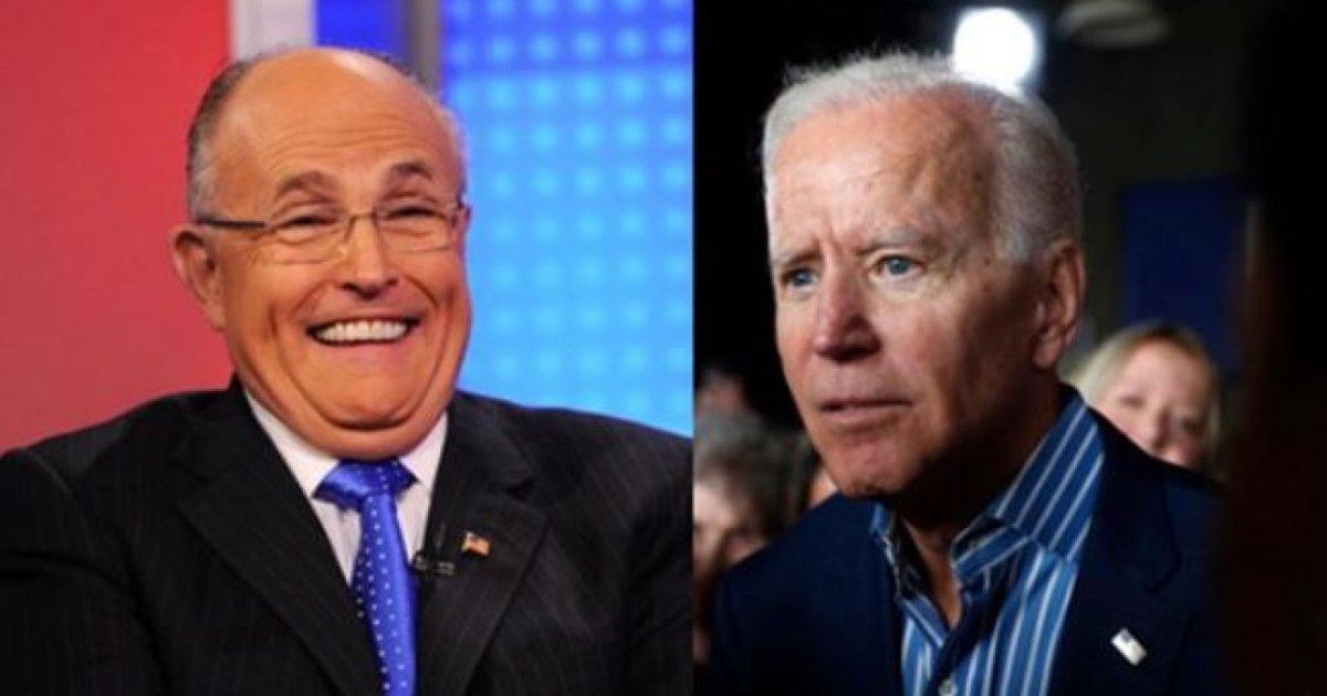 """Photo of Rudy Giuliani: Biden & Dems """"Have Fallen Into A Trap"""" When it Comes to Ukraine"""