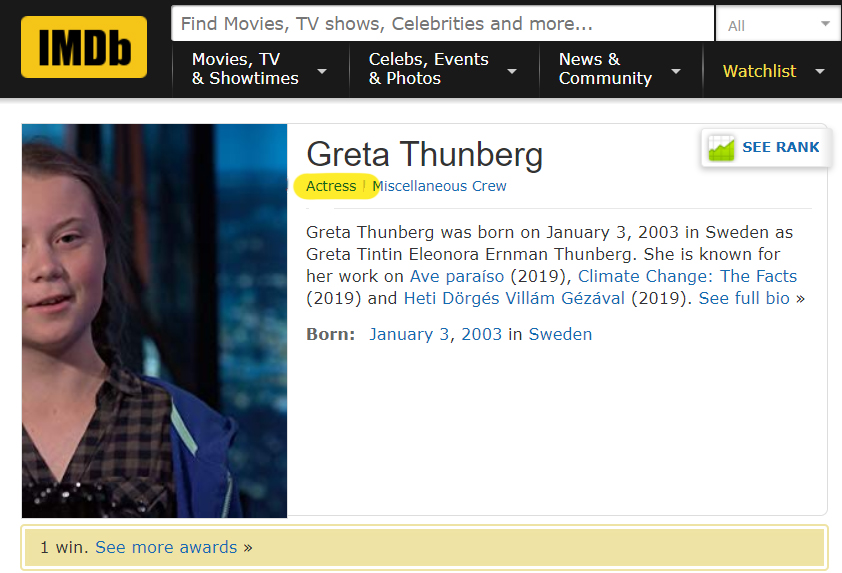 Photo of BOOM! Greta Thunberg EXPOSED as an ACTRESS
