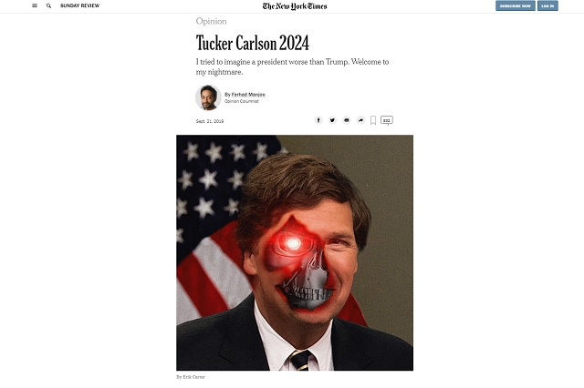 """Photo of The New York Times Fears """"Tucker Carlson 2024"""""""