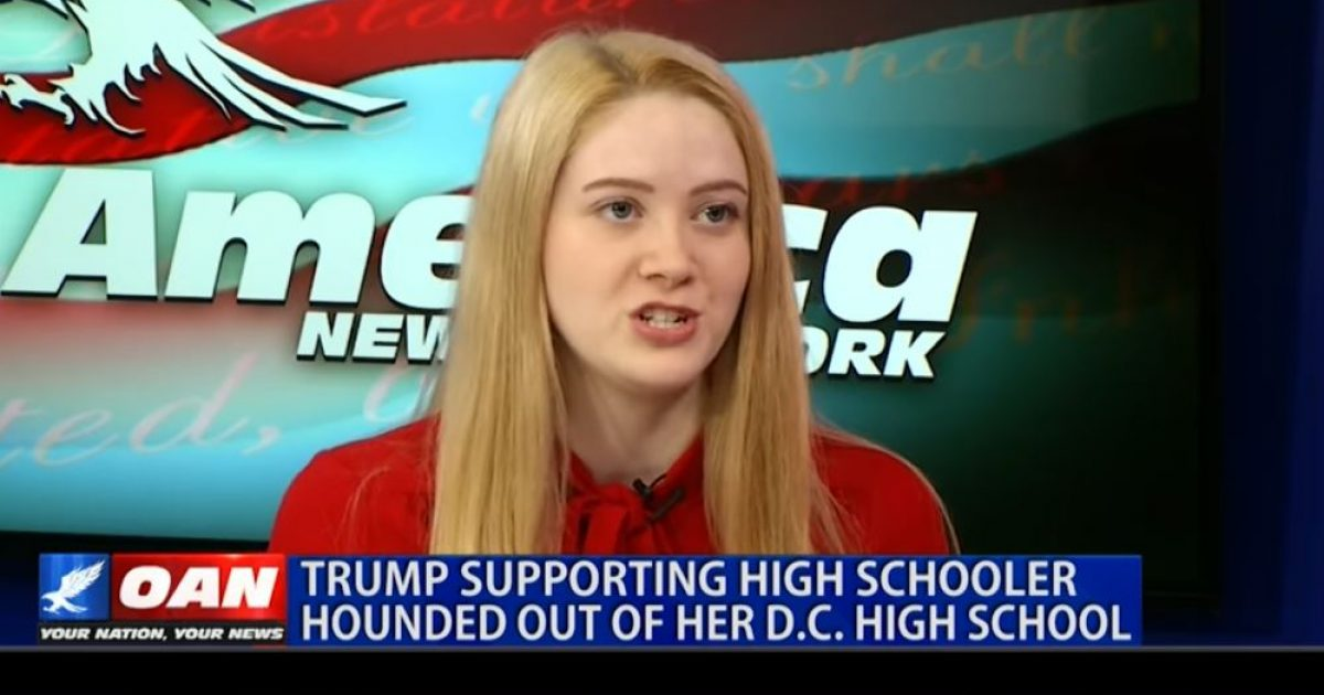 Photo of Video: Student harassed & hounded out of her D.C. High School for supporting Trump