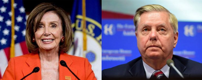"""Pelosi & Graham announce joint resolution to overturn President Trump's """"dangerous decision"""" on Syria."""