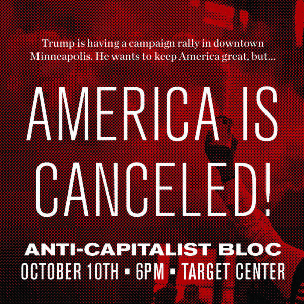 Photo of Antifa plans disruption of Trump rally in Minneapolis on Oct 10th, Oath Keepers calls for volunteers to keep attendees safe