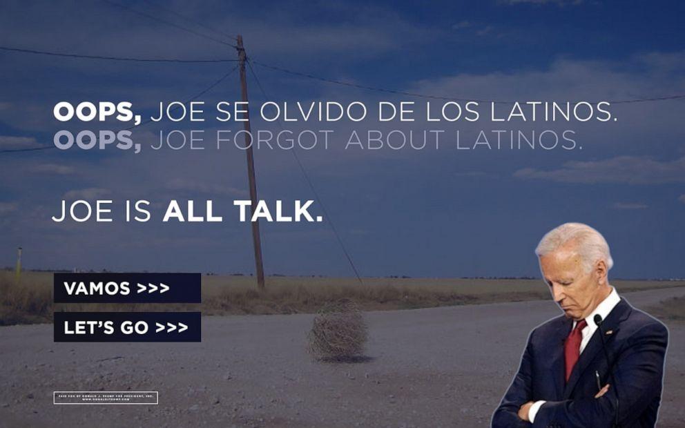 Photo of Trump campaign scoops up Biden's Latino voter web address, trolls his voter outreach